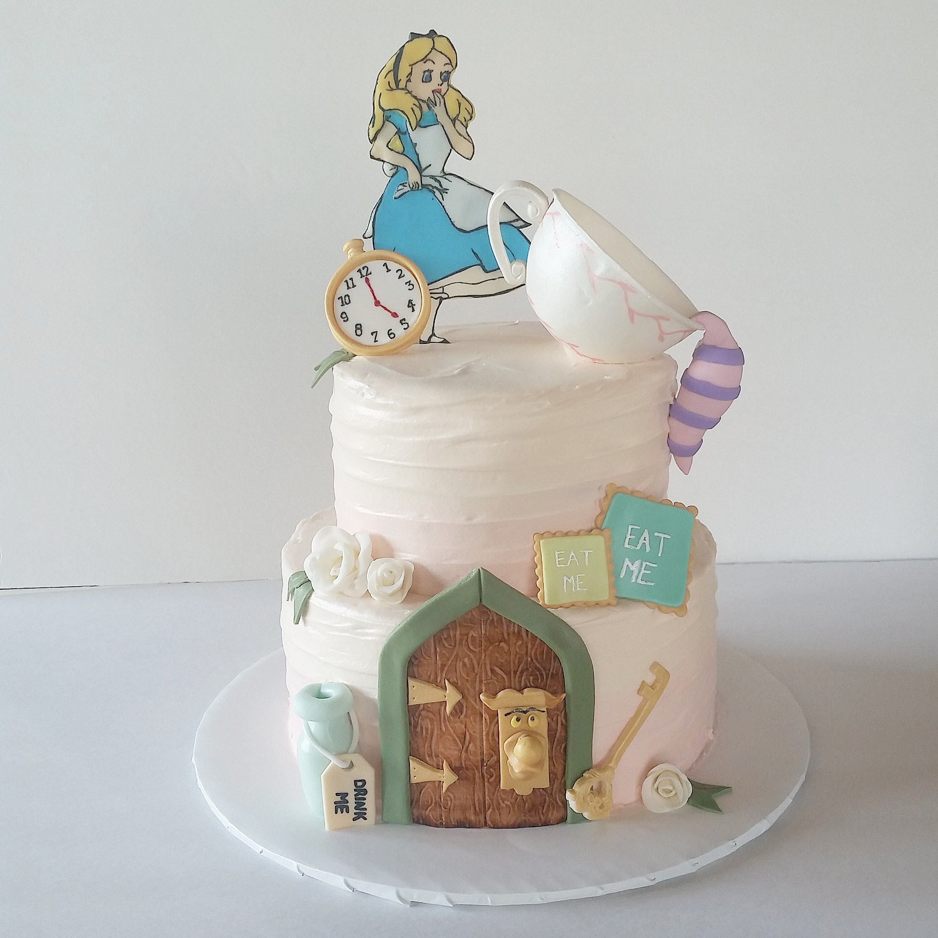 Fantastic Alice In Wonderland Birthday Cake Greenslate Personalised Birthday Cards Cominlily Jamesorg