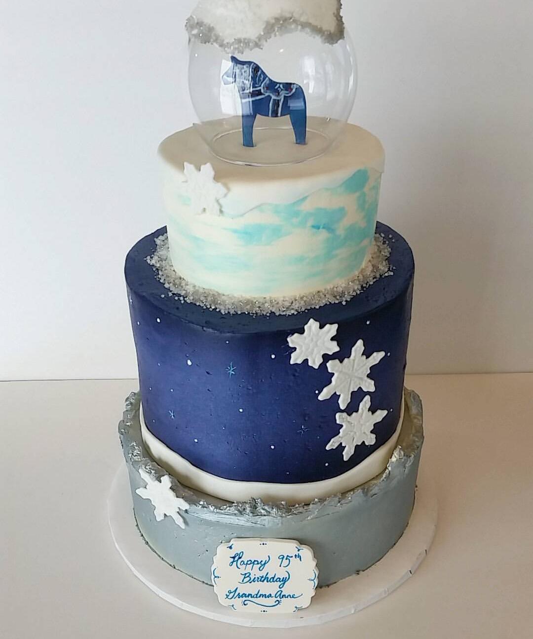 Swell Winter Birthday Cake Greenslate Funny Birthday Cards Online Eattedamsfinfo