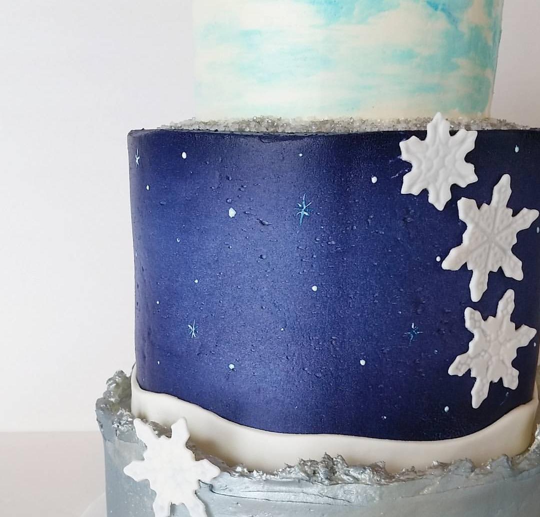 Winter Birthday Cake Greenslate